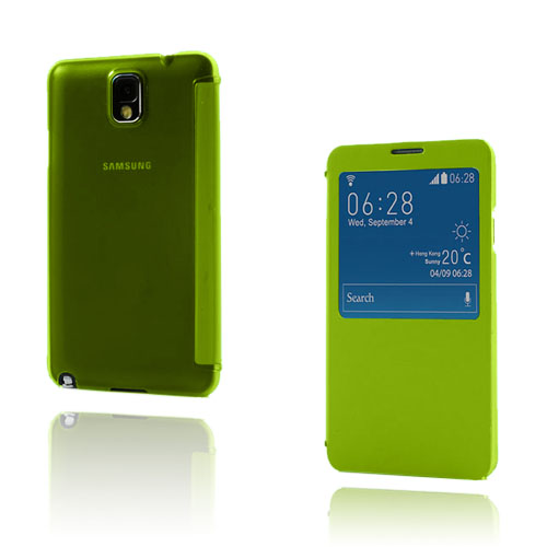 Smart Skal (Gul) Samsung Galaxy Note 3 Läderfodral