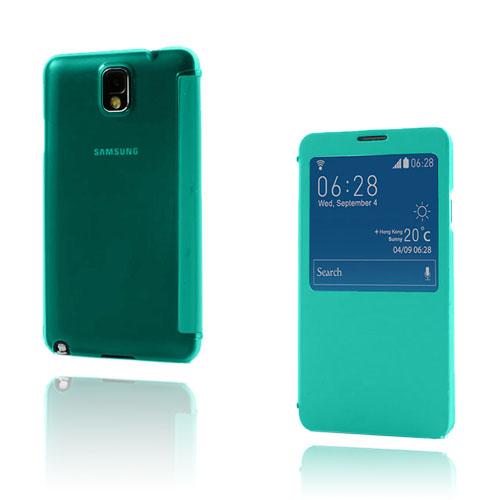 Smart Skal (Grön) Samsung Galaxy Note 3 Läderfodral