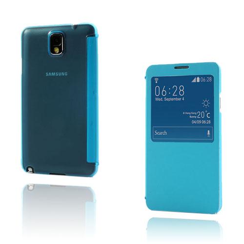 Smart Skal (Blå) Samsung Galaxy Note 3 Läderfodral