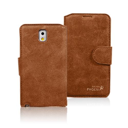 Phoenix (Brun) Samsung Galaxy Note 3 Genuint Läderfodral
