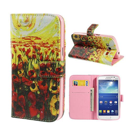 Van Gogh (Tulpaner) Samsung Galaxy Grand 2 Flip-Fodral