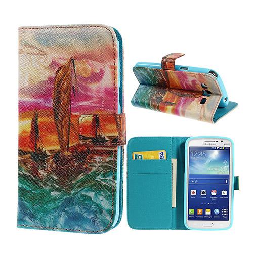 Van Gogh (Havsfärd) Samsung Galaxy Grand 2 Flip-Fodral