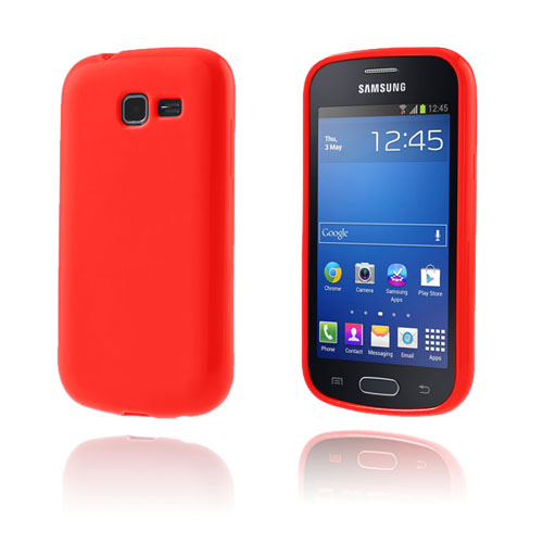 GelCase (Röd) Samsung Galxy Trend Lite Skal