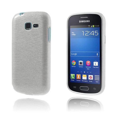 Brush (Vit) Samsung Galaxy Trend Lite Skal