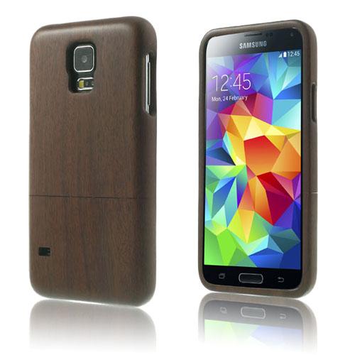Natural (Valnöt) Samsung Galaxy S5 Äkta Träskal