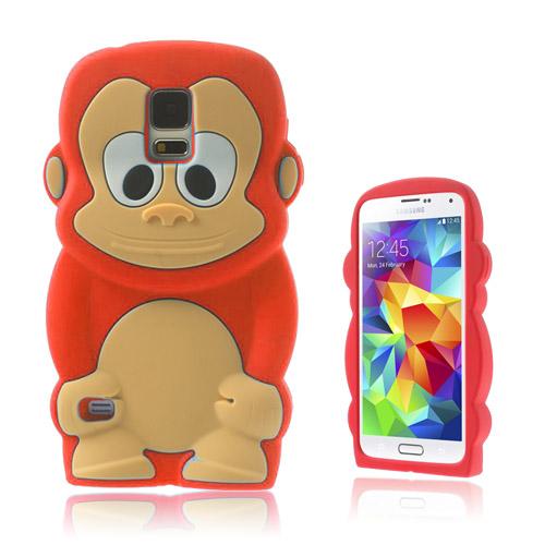 Monkey (Röd) Samsung Galaxy S5 Skal