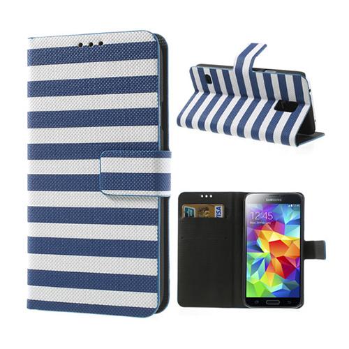 Barcode (Blå) Samsung Galaxy S5 Fodral