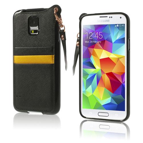 Speed (Svart) Samsung Galaxy S5 Läderfodral