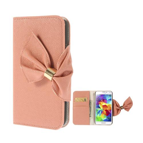 Victoria (Rosa) Samsung Galaxy S5 Läderfodral