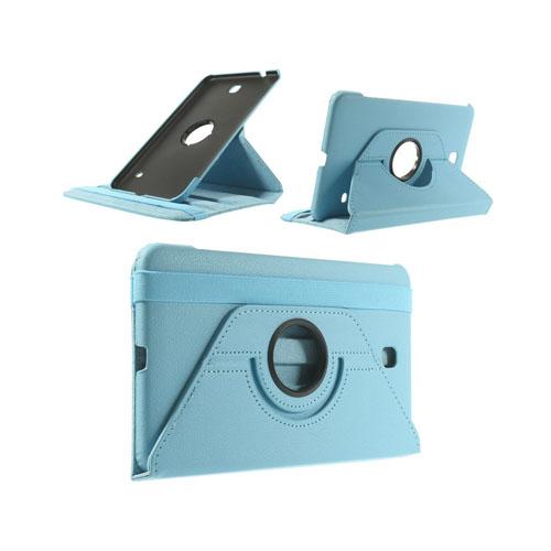 3-Sixty (Ljusblå) Samsung Galaxy Tab 4 8.0 Läderfodral