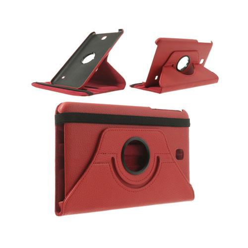 3-Sixty (Röd) Samsung Galaxy Tab 4 8.0 Läderfodral