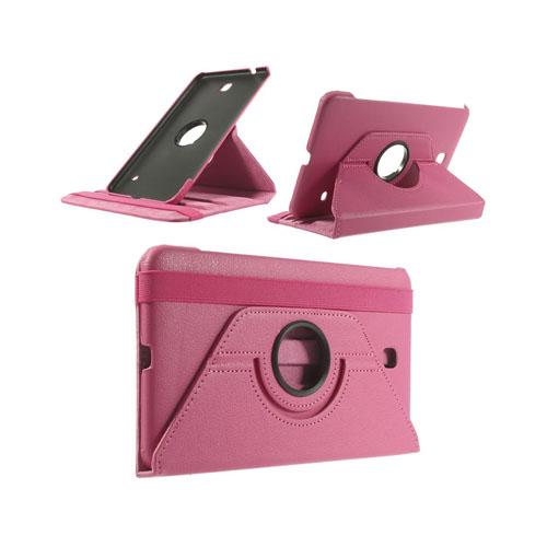 3-Sixty (Knallrosa) Samsung Galaxy Tab 4 8.0 Läderfodral