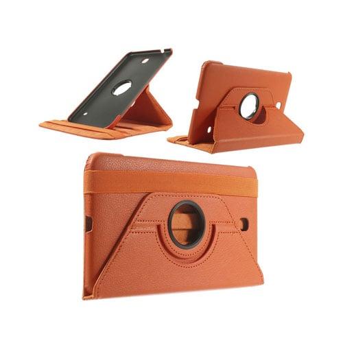 3-Sixty (Orange) Samsung Galaxy Tab 4 8.0 Läderfodral