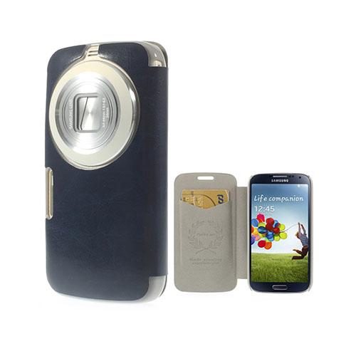 Mankell Samsung Galaxy K Zoom Läder Fodral med Korthållare – Mörk Blå