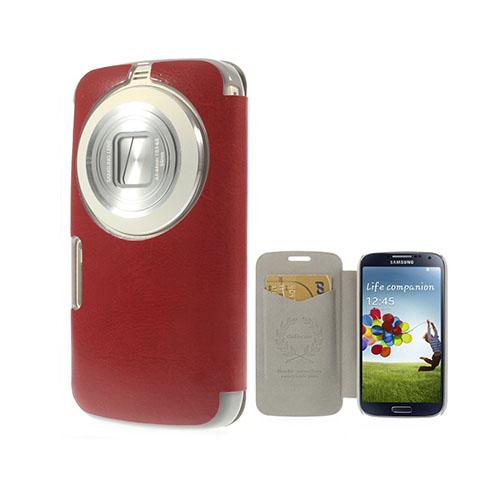 Mankell Samsung Galaxy K Zoom Läder Fodral med Korthållare – Röd