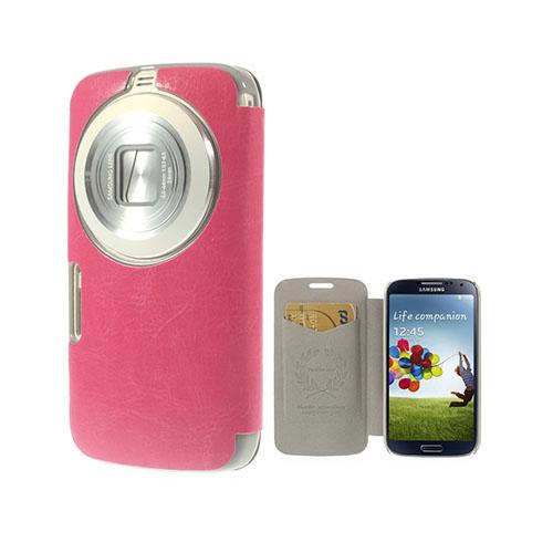 Mankell Samsung Galaxy K Zoom Läder Fodral med Korthållare – Hot Rosa