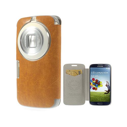 Mankell Samsung Galaxy K Zoom Läder Fodral med Korthållare – Orange