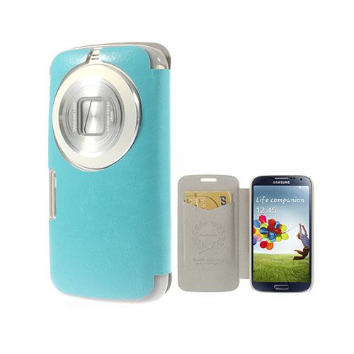 Mankell Samsung Galaxy K Zoom Läder Fodral med Korthållare – Ljus Blå