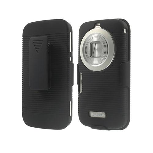 Stripe Samsung Galaxy K Zoom Läder Bältes Fodral – Svart