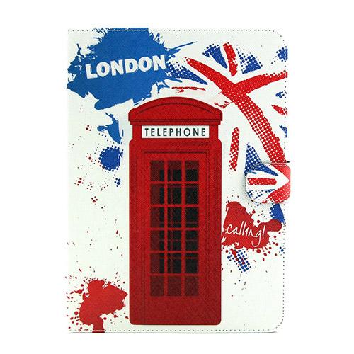 Solstad (London Telefonkiosk) Samsung Galaxy Tab 4 10.1 Flip-Fodral