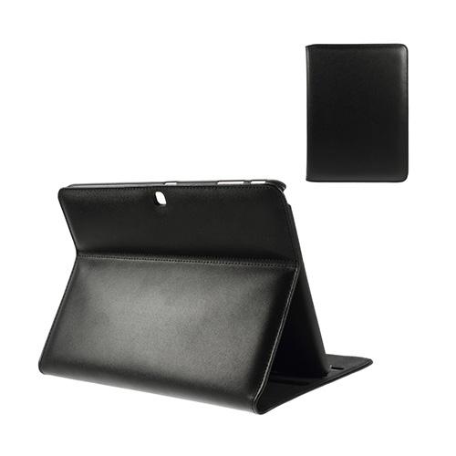 Bellman Samsung Galaxy Tab 4 10.1 ÄKTA Läder Stativ Fodral – Svart