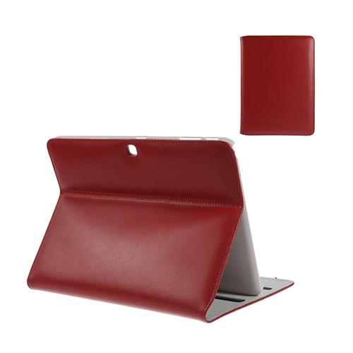 Bellman Samsung Galaxy Tab 4 10.1 ÄKTA Läder Stativ Fodral – Röd