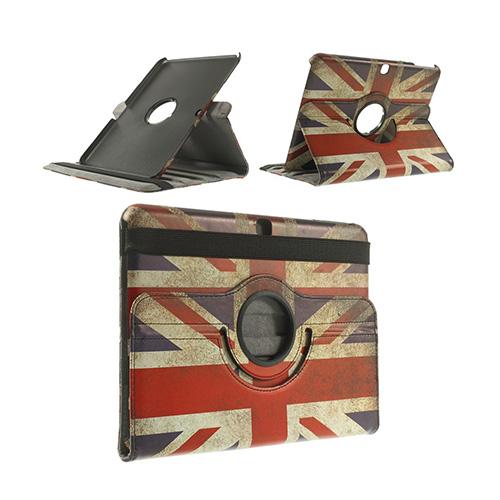 Moberg Samsung Galaxy Tab 4 10.1 Läder Fodral – Vintage UK Flagga