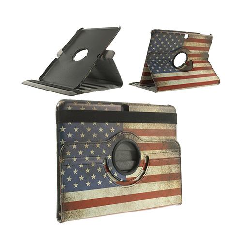 Moberg Samsung Galaxy Tab 4 10.1 Läder Fodral – Vintage USA Flagga