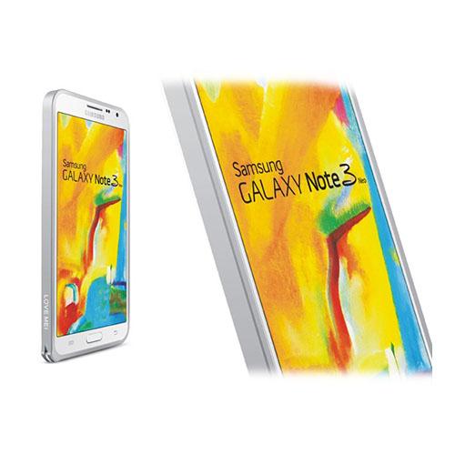 LOVE ME! (Silver) Samsung Galaxy Note 3 Neo Aluminium Bumper