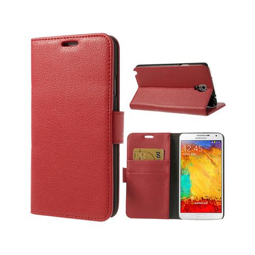 Wall Street (Röd) Samsung Galaxy Note 3 Neo Läderfodral