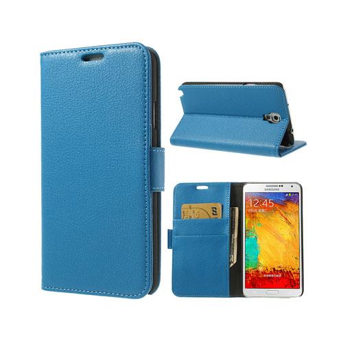 Wall Street (Blå) Samsung Galaxy Note 3 Neo Läderfodral