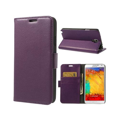 Wall Street (Lila) Samsung Galaxy Note 3 Neo Läderfodral