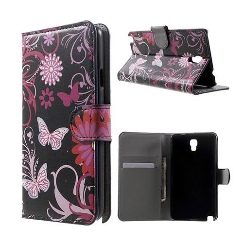 Moberg (Rosa Blommor & Fjärilar) Samsung Galaxy Note 3 Neo Flip-Fodral