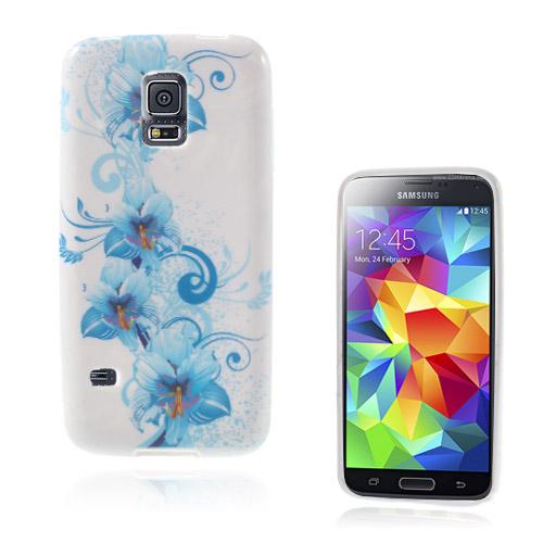 Symphony (Blå Blommor) Samsung Galaxy S5 Mini Skal