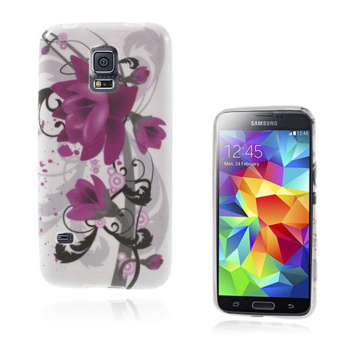Symphony (Lila Blommor) Samsung Galaxy S5 Mini Skal