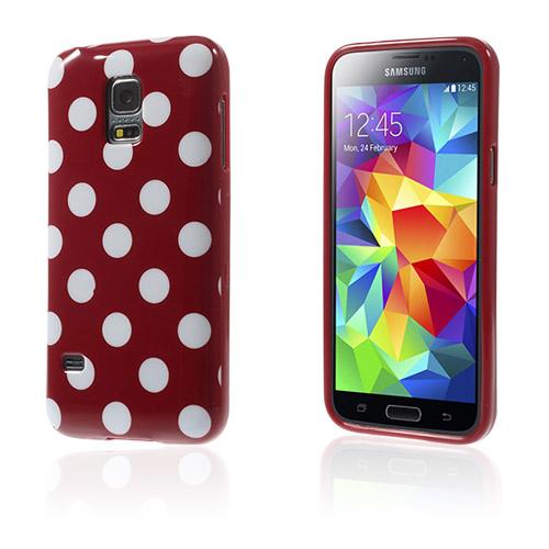 Polka (Rött / Vita Prickar) Samsung Galaxy S5 Mini Skal