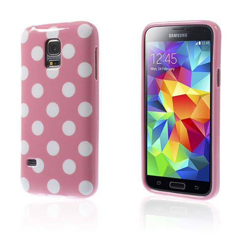 Polka (Rosa / Vita Prickar) Samsung Galaxy S5 Mini Skal