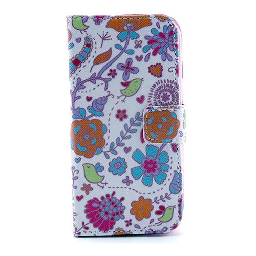 Solstad (Färgglada Blommor) Samsung Galaxy S5 Mini Flip-Fodral