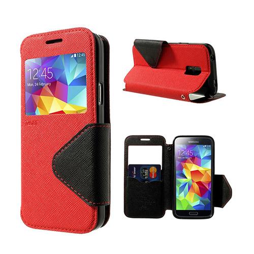 Marklund (Röd) Samsung Galaxy S5 Mini Flip-Fodral