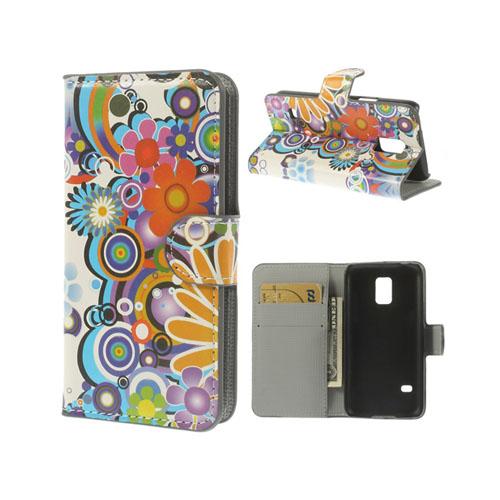 Moberg (Flower Power) Samsung Galaxy S5 Mini Flip-Fodral