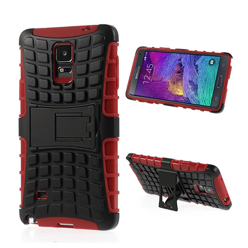 Bomb (Röd) Samsung Galaxy Note 4 Stand Case