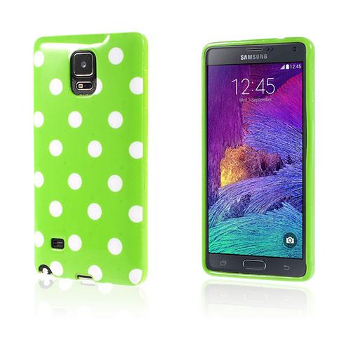 Polka (Grönt / Vit) Samsung Galaxy Note 4 Skal