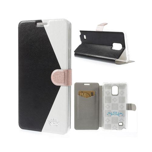 Envelope (Svart / Vit) Samsung Galaxy Note 4 Läder Fodral