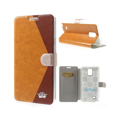 Envelope (Orange / Brun) Samsung Galaxy Note 4 Läder Fodral