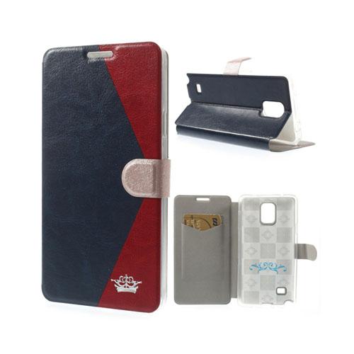 Envelope (Röd / Mörk Blå) Samsung Galaxy Note 4 Läder Fodral