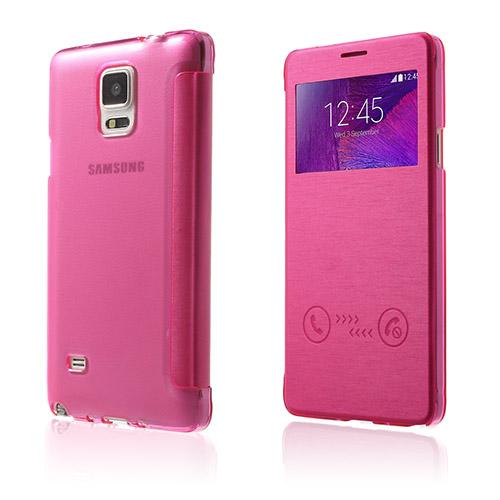 Answer (Knallrosa) Samsung Galaxy Note 4 Flip-Fodral