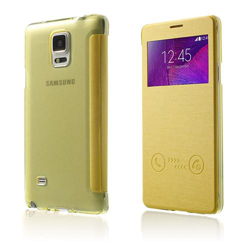 Answer (Gul) Samsung Galaxy Note 4 Flip-Fodral