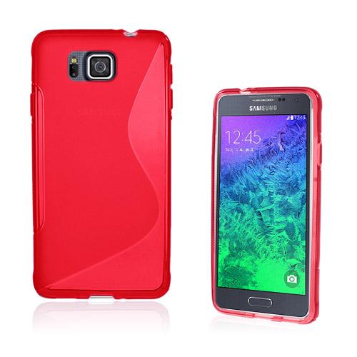 Lagerlöf (Röd) Samsung Galaxy Alpha Skal