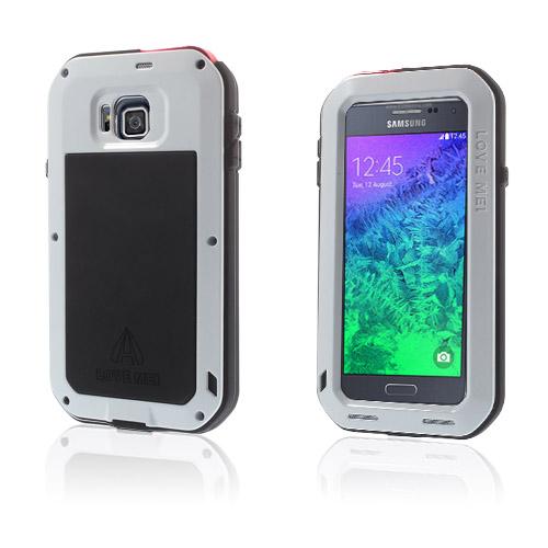 Love Me Samsung Galaxy Alpha Metall Skal – Vit