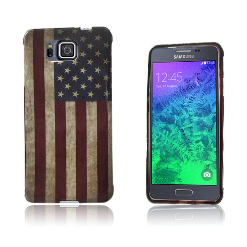 Westergaard Samsung Galaxy Alpha Skal – Vintage USA Flagga